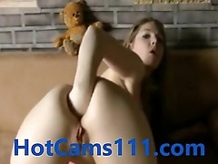 Hot German Teen Fisting Her Ass on Cam