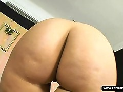 Busty Lisa Blows Hard in her first scene ever