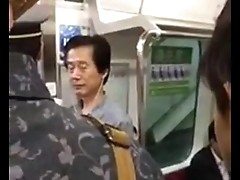 crazy japanese women in train