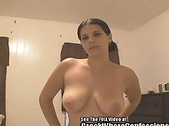 Racist Latina Whore with Big Tits Screams and Slurps My Cock