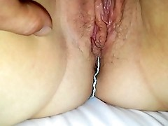 Curvy girlfriend'_s meaty pussy lips. Comments?