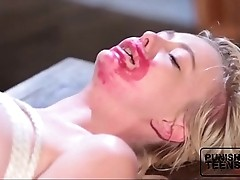 Tiny Blonde Teen Gets Destroyed - PunishTeensHD.com