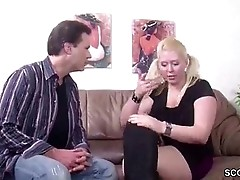 German blond Milf with pigtails -15min.