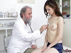 Older Doctor Fingering Cute Babe