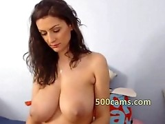 Adeline has huge tits showing in webcam - www.livesexfor.com