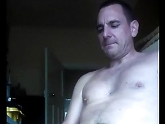 wanking off my cock to an oozing cumshot