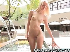 Teen Sierra blonde public naked