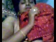 Indian Desi Newly Married Bhabhi Nude on bed and dressing after fuck clip 1 - Wowmoyback